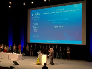 Irene EMRS award2