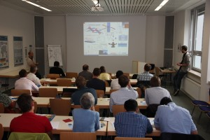 View in the seminar room during the lecture of Frank Lungwitz and Erik Schumann on ellipsometry, optical absorption spectroscopy